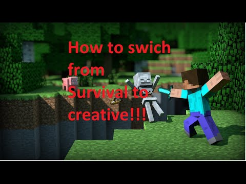 How to Change from Survival to Creative Mode in Minecraft 1.9 with Cheats Disabled!