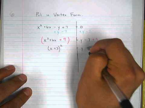 Moya Math Algebra 2 (Writing Quadratics in Vertex Form 7).avi