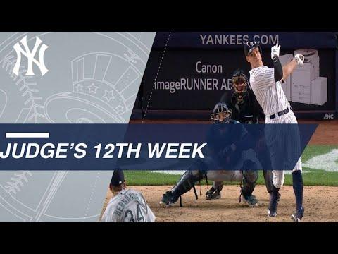 Aaron Judge's 12th week highlights