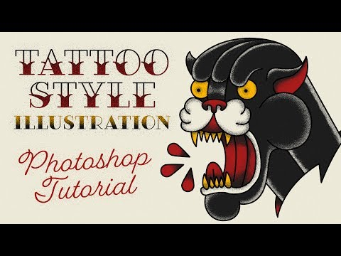 Conor McGregor Tattoo Style Illustration Effect Photoshop Tutorial
