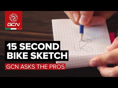 Can You Draw A Bike In 15 Seconds? | GCN Asks The Pros At The Giro d'Italia