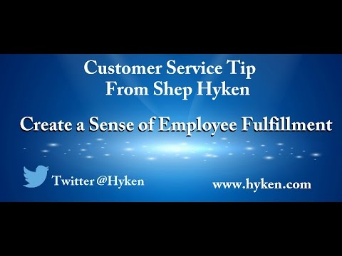 Customer Service Training Tip: Create Employee Fulfillment