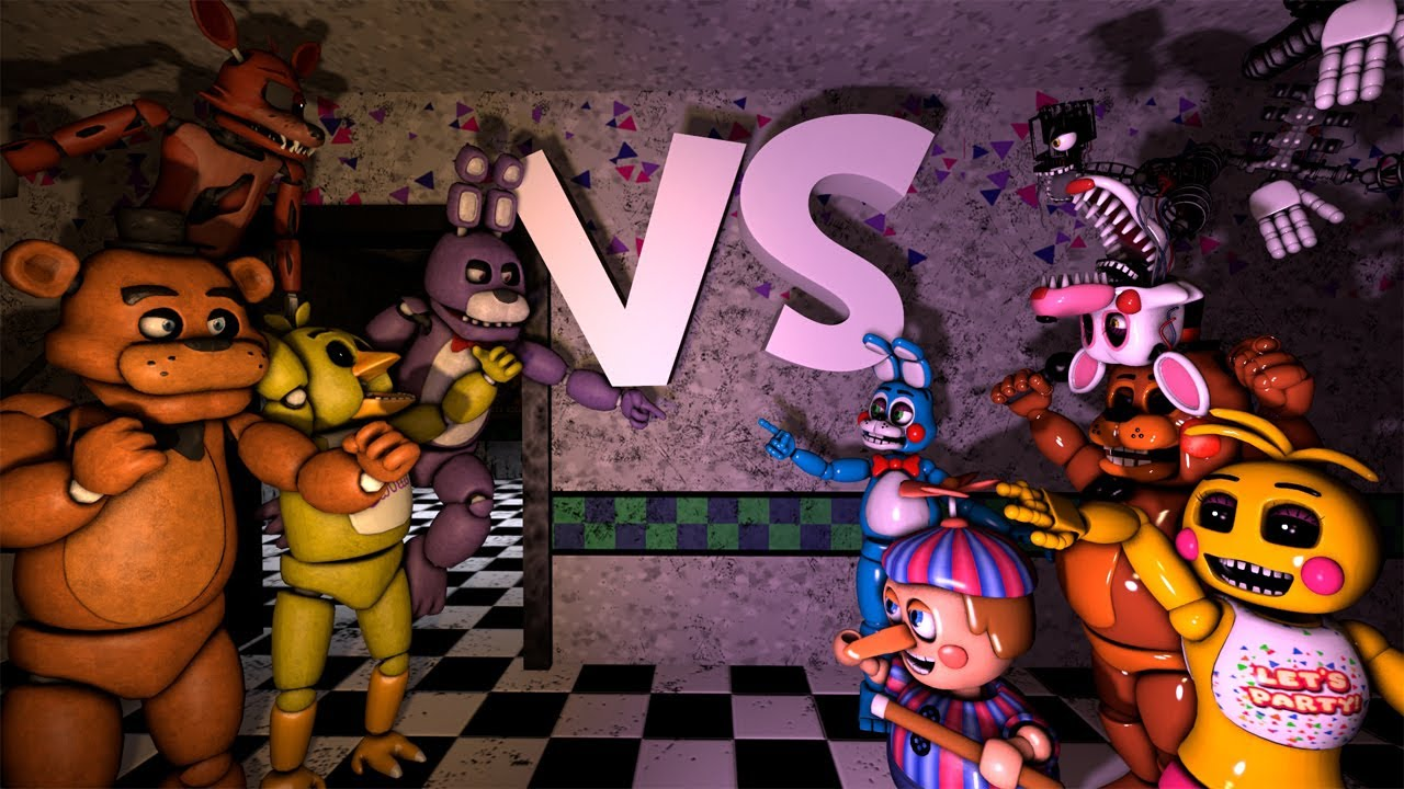 [SFM] Five Funky Nights at Freddy's 2 HD Remake || By Father Ferguson
