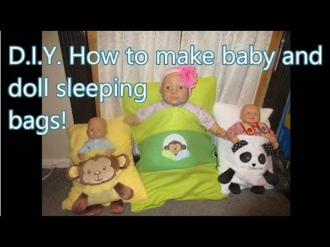 D.I.Y. Baby & dolly sleeping bags