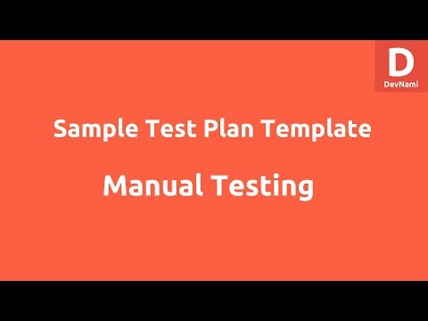 Sample Test Plan Template Excel