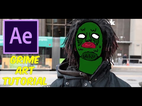 How To Make Music Video Grime Art - After Effects Tutorial