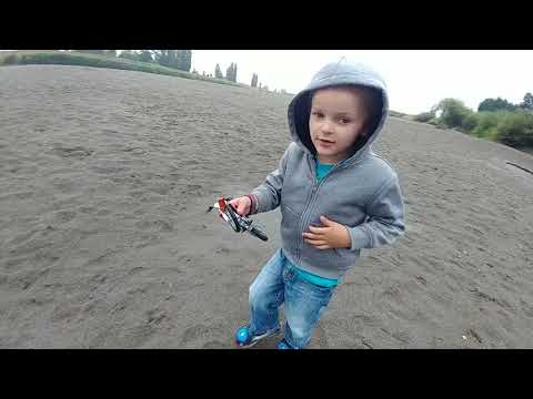KTM Toy Dirtbike 350 SX-F Beach Moto Track With A 4 Year Old