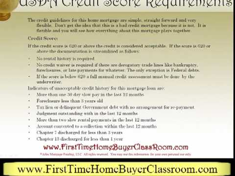 Credit Score Requirements for a USDA Loan