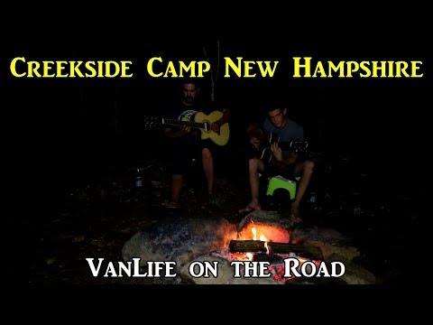 #Vanlife Creekside Campsite! New Hampshire - #LivingontheRoad