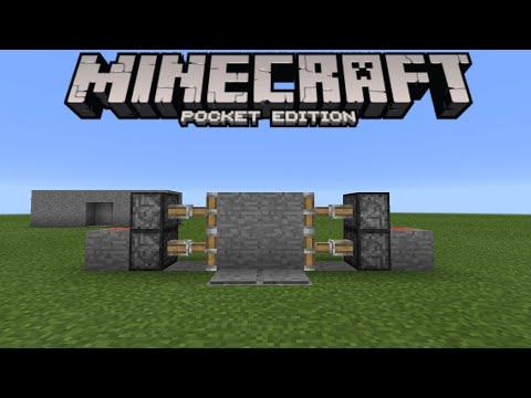 SECRET DOOR TUTORIAL! - 1.0.3 Redstone Creation - Minecraft PE (Pocket Edition)