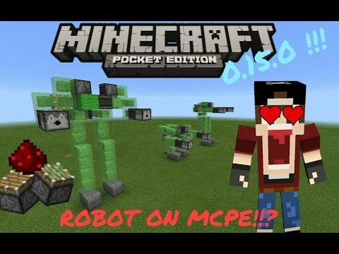 Robots on mcpe 0.15.0!!  Redstone contraption - Minecraft Pocket edition