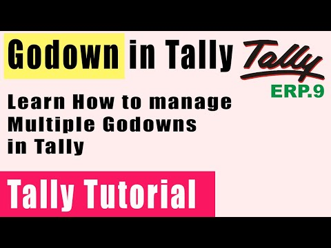 TallyERP9 | Godown Creation | Inventory Masters