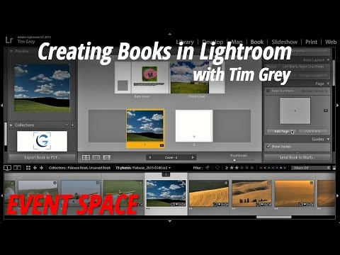 Creating Books in Lightroom with Tim Grey