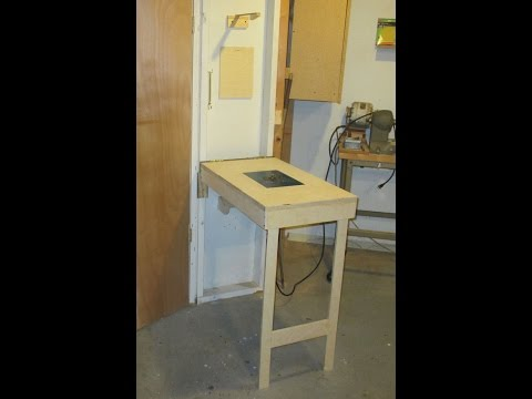Wall Mounted Fold Down Router Table