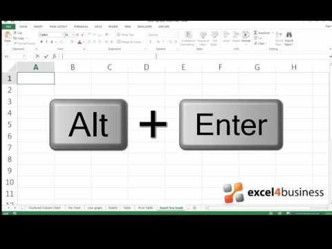 How to Insert a Line Break in Excel 2013