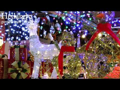 Illuminated Wire Reindeer Christmas Decorations at Hetland Garden Centre Dumfries
