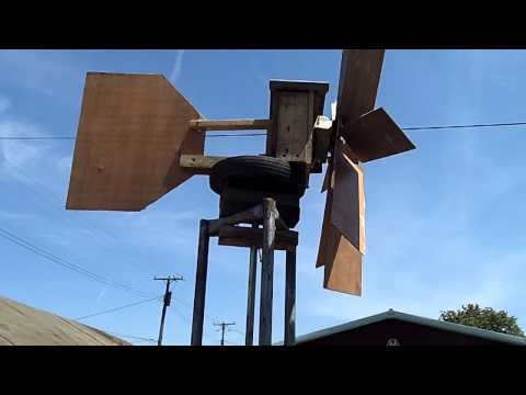 Homemade Wind Generator from Old Car Alternator