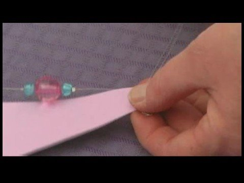Making Beaded Window Valances : Securing Beads on Curtain Tiebacks