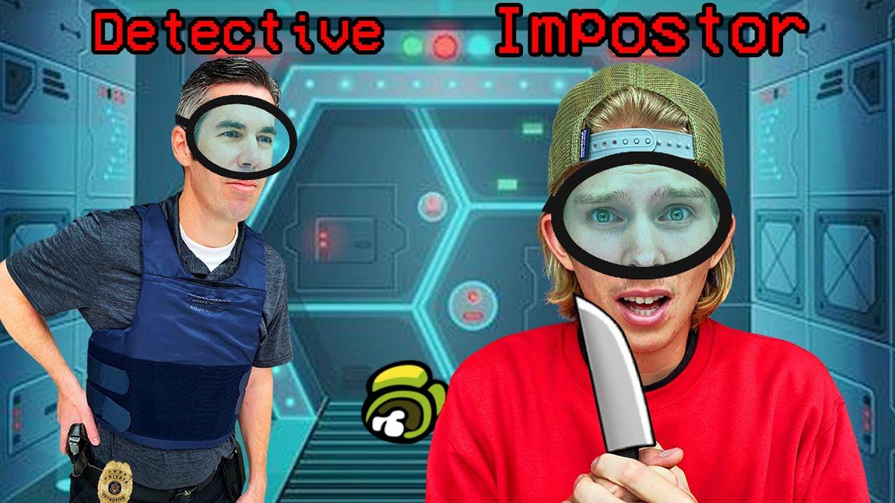 Among Us IRL vs a REAL Detective! (Detective IQ 999)