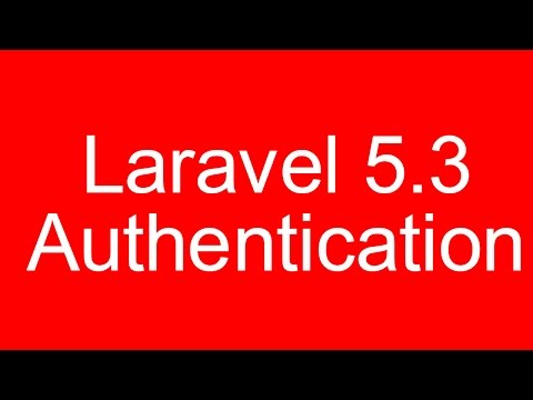 Laravel 5.3 Authentication Login and Registration Form with Bootstrap