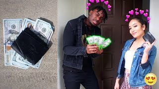 Dropping my Wallet with $1000 & A HOT Model Delivered it! SHE MIGHT BE MY WIFE!?!