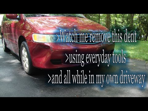 Easy way to remove a dent from your vehicle bumper at home
