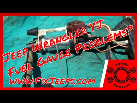 Jeep Wrangler YJ - Fuel gauge problems? Details and demo's included. #jeepfuelgaugedontwork