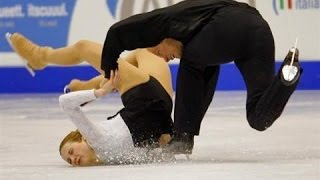 Worst of Figure Skating Couple Falls