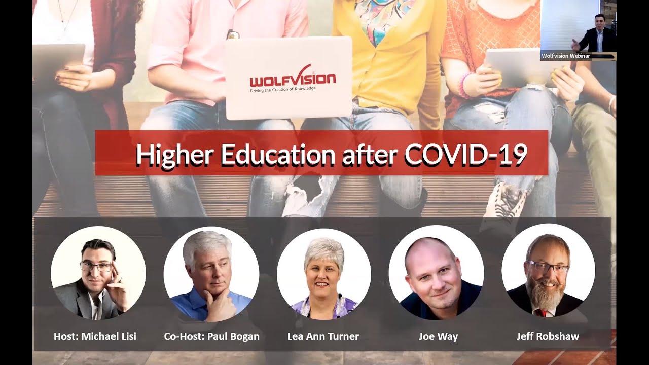 Webinar: Higher Education after Covid-19
