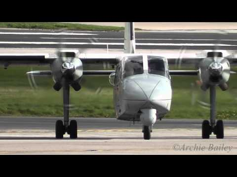 Greater Manchester Police Britten Norman | Amazing approach and Landing @ Manchester Airport