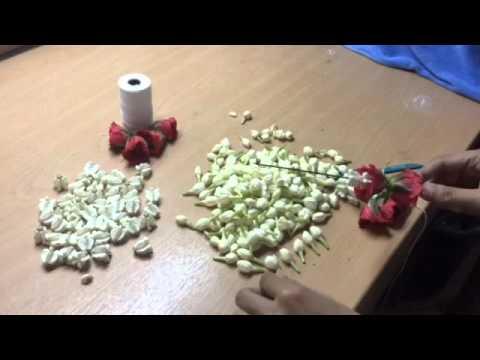 How to make Thai flower garland