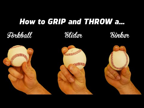 3 Pitching Grips - How to throw the Sinker, Slider, and Forkball