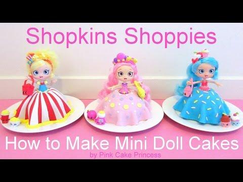 Shopkins Cake - Shoppies Doll Cakes - Bubbleisha Jessicake Popette - How to Make Mini Doll Cakes