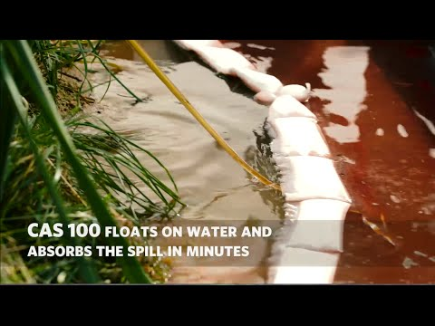 Oil Spill Absorption Polymer - Shoreline Spill Simulation With Diesel Fuel
