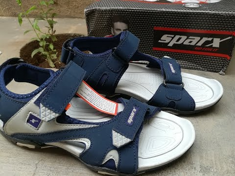 Sparx Men's Navy Blue and Grey Sandals