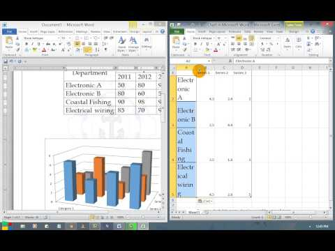 How to insert a 3D column chart for Result Analysis