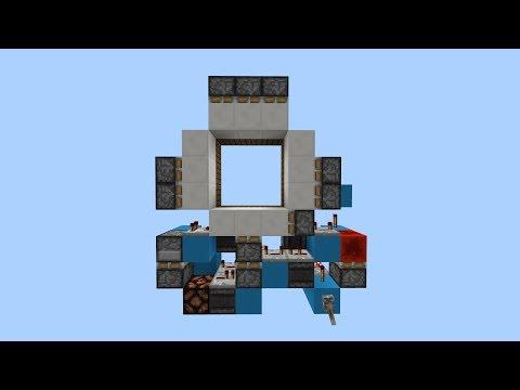 Smallest Minecraft 3x3 Piston door? (PE/Xbox/Windows10/Switch)