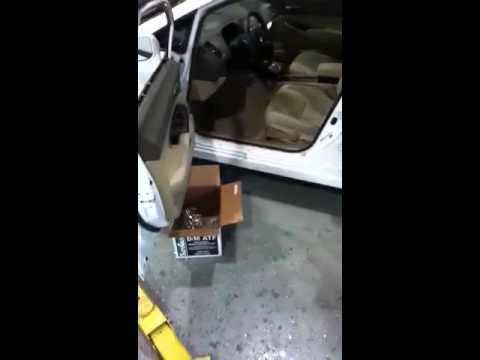 Broken car window removal
