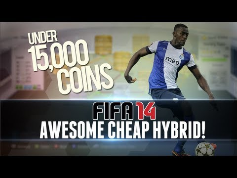 FIFA 14   Awesome, Cheap HYBRID for UNDER 15k w/ Heading Machines! - Squad/Team Builder #1