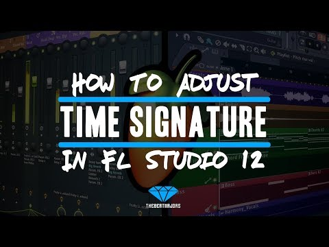 How To Adjust The Time Signature In FL Studio 12 (@TheBeatMajors)