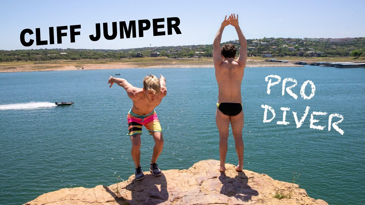 Cliff Jumper Takes On Pro Diver!