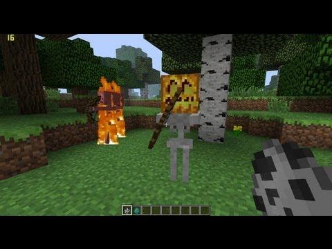 Minecraft- Mobs with pumpkin heads, Halloween 2012 update suprise!