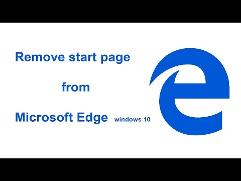 Remove start page from Microsoft Edge Browser