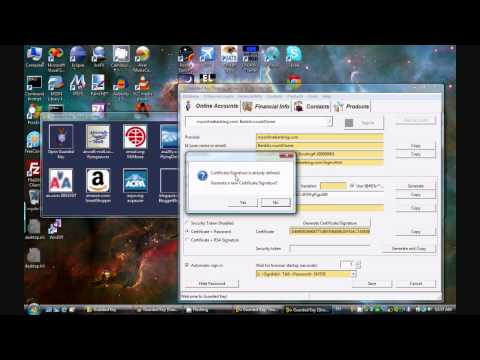 Guarded Key (password manager) version 1.1.0 - quick demo on Windows