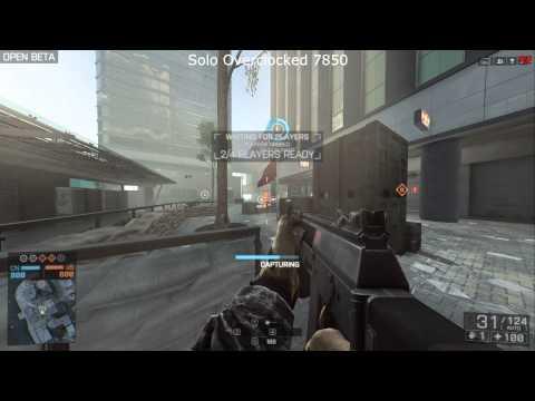 How I got Battledfield 4 Beta to run 60FPS. Benchmark FPS Counter 7850, Crossfire, 7970
