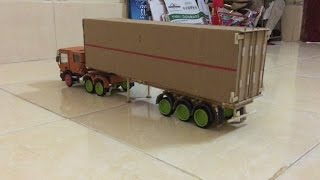RC Truck SCANIA Container make at home Part 3
