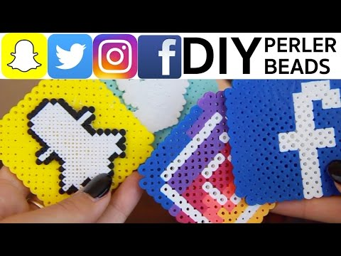 DIY Social Media Perler Beads Tutorial