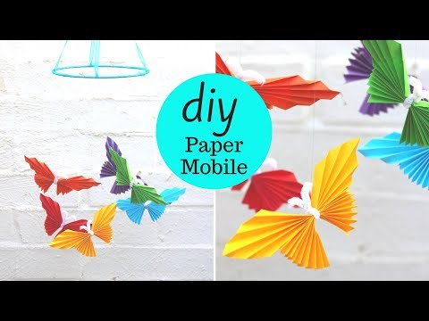 How to Make a Paper Butterfly Mobile | Paper Butterfly Craft