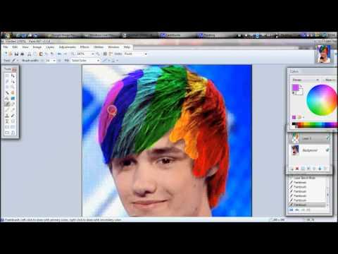 Change Hair Colour on Paint.net