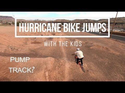 Hurricane Utah bike jumps and pump track| With the kids